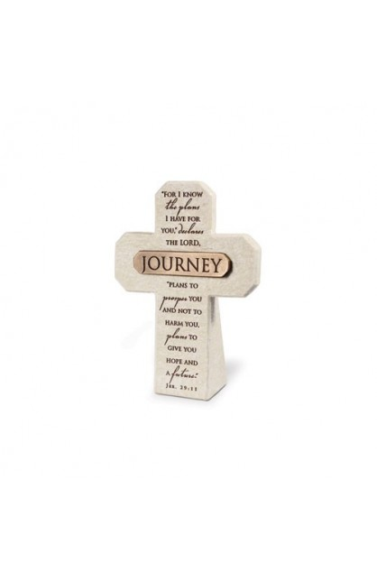Cross Desktop Cast Stone Bronze Title Bar Journey