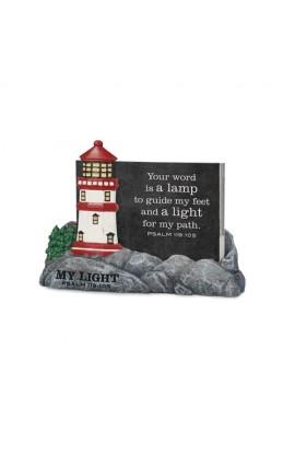 MY LIGHT LIGHTHTOUSE SCRIPTURE CARDS HOLDER