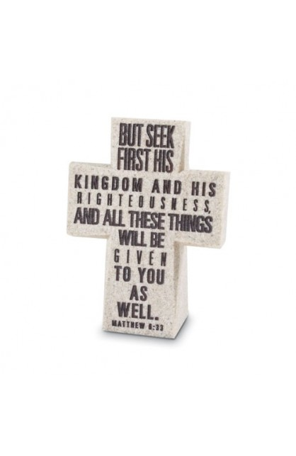 SEEK FIRST HIS KINGDOM CROSS