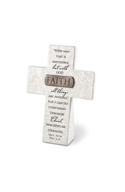 FAITH RESIN DESKTOP CROSS