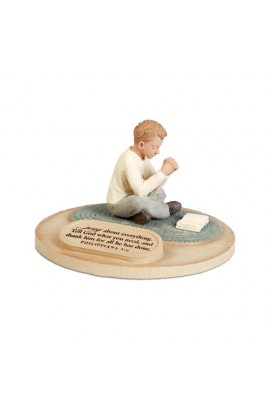 PRAYING BOY DEVOTED SCULPTURE