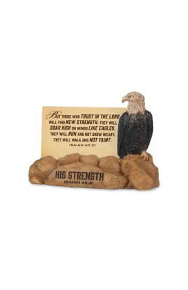 HIS STRENGTH EAGLE SCRIPTURE CARDS HOLDER