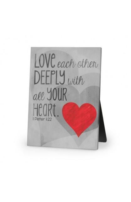 LOVE DEEPLY CANVAS PLAQUE