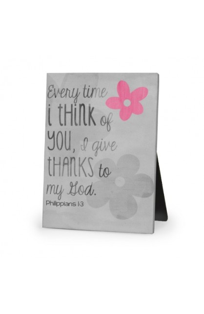 GIVE THANKS CANVAS PLAQUE