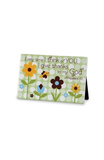 GIVE THANKS DOTS PLAQUE