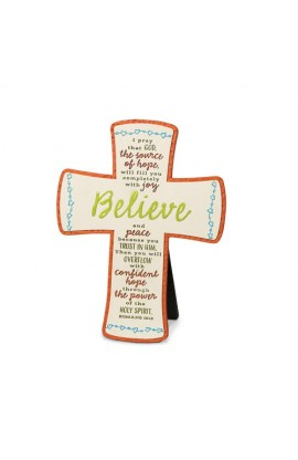BELIEVE EMBROIDERED DESKTOP CROSS