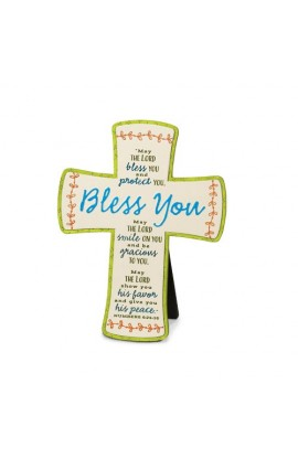 BLESS YOU EMBROIDERED DESKTOP CROSS
