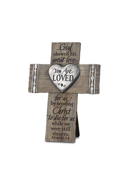 Cross Wall Desktop Cast Stone You Are Loved