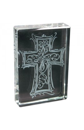 CROSS ETCHED GLASS