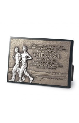 THE GOAL COUPLE RUNNING PLAQUE