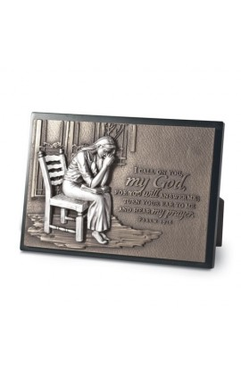 PRAYING WOMAN PLAQUE