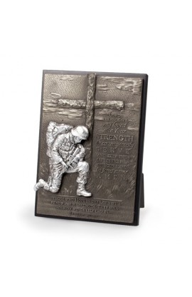 KNEELING SOLDIER PLAQUE
