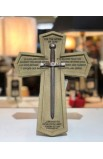 Cross Wall Cast Stone Word of God Sword