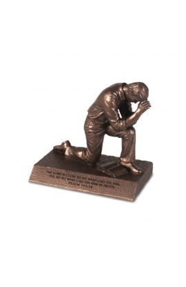 Sculpture Cast Stone Small Bronze Praying Man