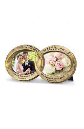 Frame Cast Stone Joined in Love Double Wedding Rings