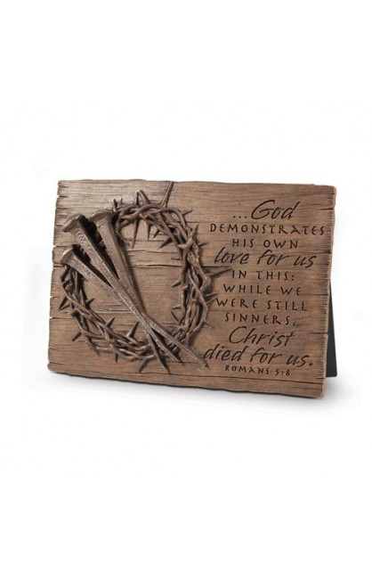 CROWN OF THORNS SMALL PLAQUE