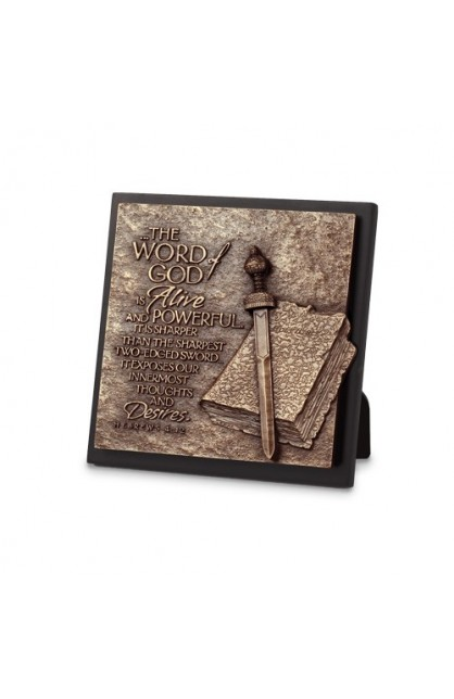 WORD OF GOD SQUARE PLAQUE
