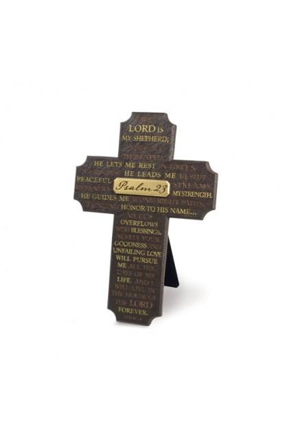 PSALM 23 LARGE RESIN CROSS