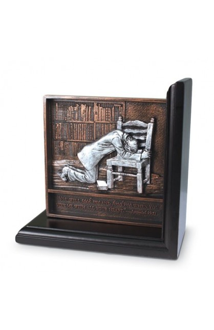 PRAYING MAN BOOKEND PLAQUE