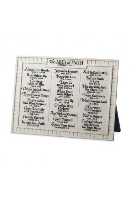 ABC'S OF FAITH DESKTOP PLAQUE
