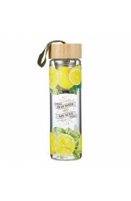 Water Bottle Glass Infuser Well With My Soul
