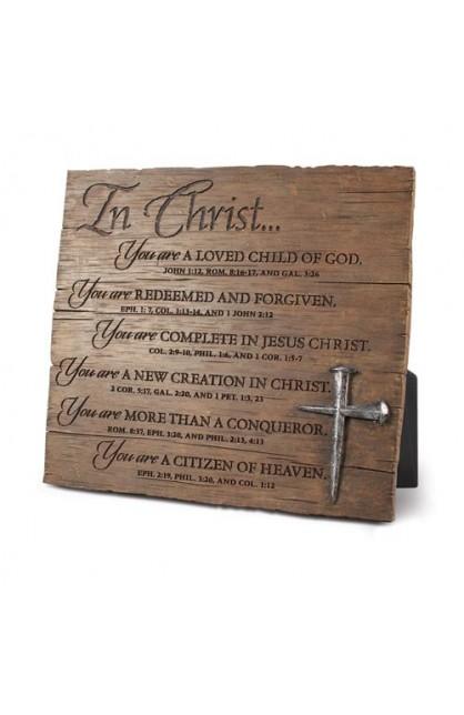 IN CHRIST PLAQUE