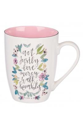 Mug Ceramic Act Justly Love Mercy Micah 6:8