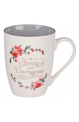 Mug Ceramic Be Strong & Courageous Joshua 1:9