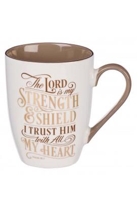 Mug Ceramic The Lord is my Strength Psalm 28:7