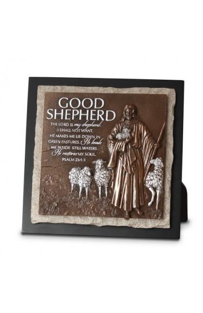 GOOD SHEPHERD SCULPTURE PLAQUE