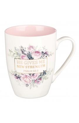 Mug Ceramic New Strength Psalm 23:3