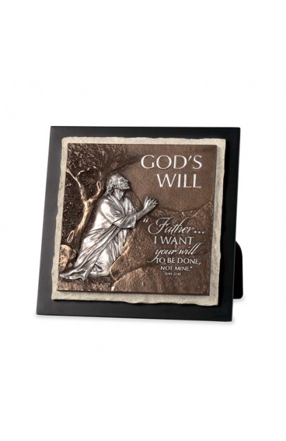 Plaque Sculpture Moments of Faith Stone God's Will
