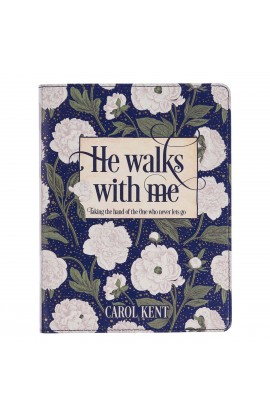 Gift Book He Walks With Me White Floral