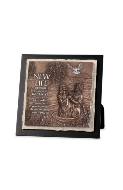 Plaque Sculpture Moments of Faith Stone New Life
