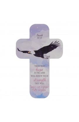 Cross Bookmark Eagles Wings Isaiah 40:31