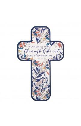 Cross Bookmark All Things Through Christ Phil 4:13