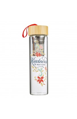 Water Bottle Glass Infuser Kindness Matters