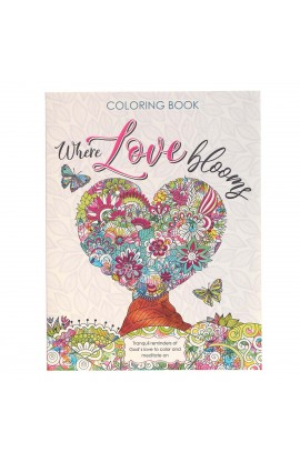 Coloring Book Where Love Blooms