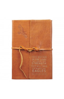 Journal Wrap Leather Wings Like Eagles