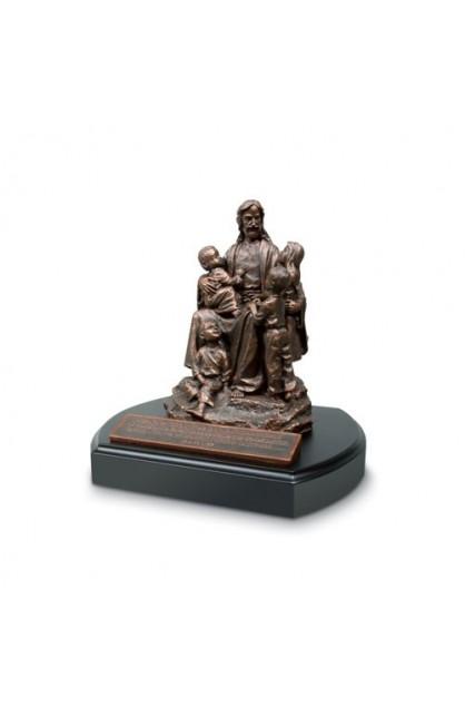 JESUS AND THE CHILDREN SCULPTURE