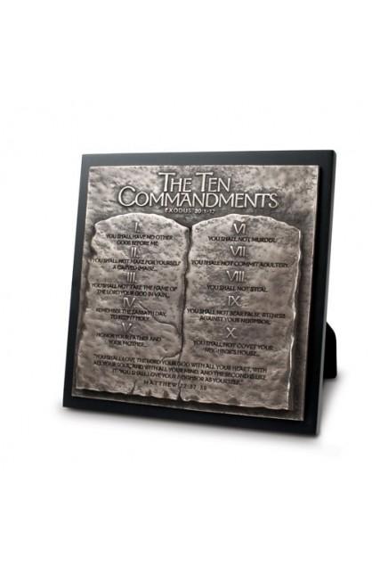 Plaque Sculpture Moments of Faith 10 Commandments