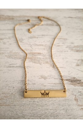 KING OF KINGS BAR NECKLACE (GOLD)
