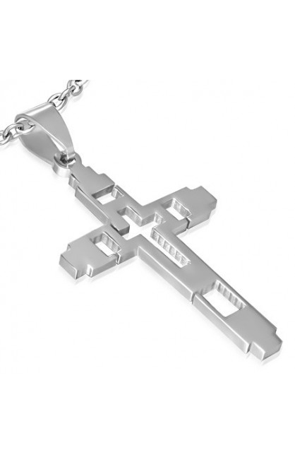 STAINLESS STEEL CUT OUT LATIN CROSS