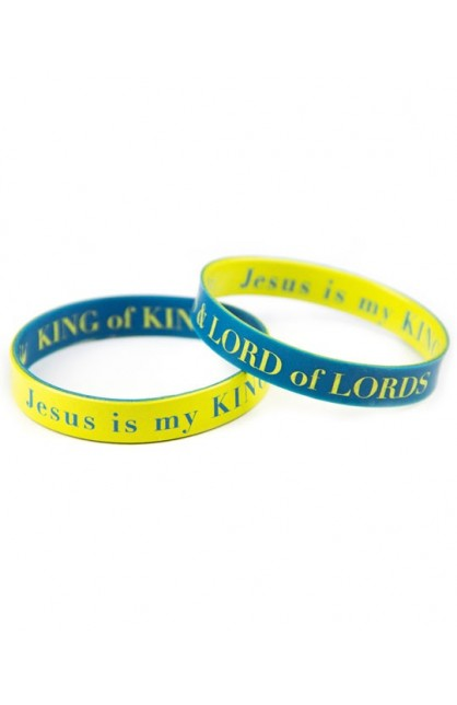 KING OF KINGS DOUBLE SIDED SILICONE BRACELET