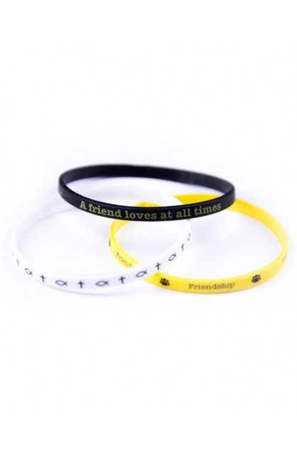 FRIENDSHIP 3 THIN SILICONE BRACELET