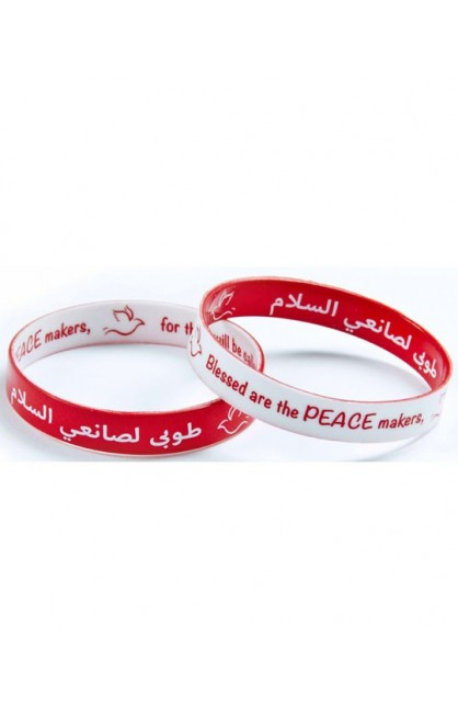 PEACE MAKERS DOUBLE SIDED SILICONE BRACELET