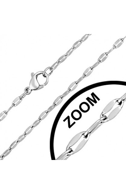 STAINLESS STEEL LOBSTER CLAW CLASP FLAT OVAL LINK CHAIN