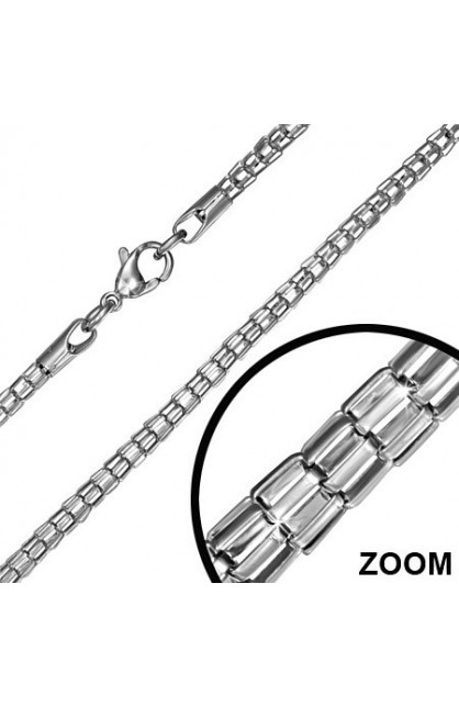 STAINLESS STEEL LOBSTER CLAW CLASP FANCY LINK CHAIN
