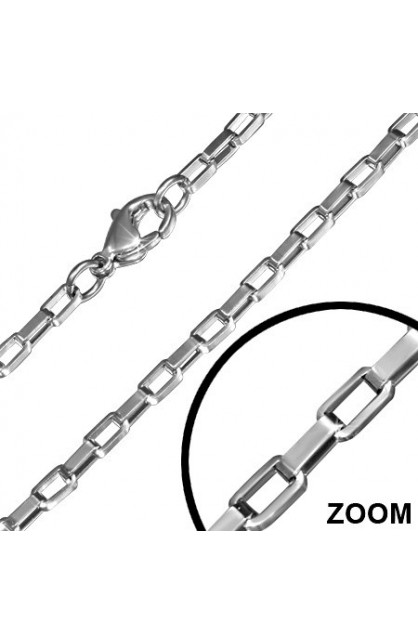 STAINLESS STEEL LOBSTER CLAW CLASP BOX LINK CHAIN