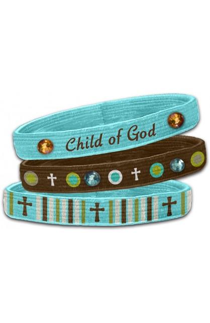 CHILD OF GOD 3PK STRETCH BANGLES